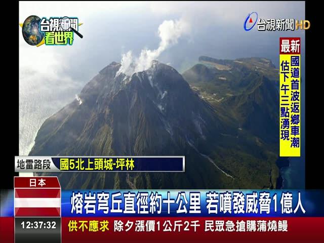 日發現最大熔岩穹丘 若噴發1億人恐遇難 7300年前曾噴發 毀滅九州南部史前文化