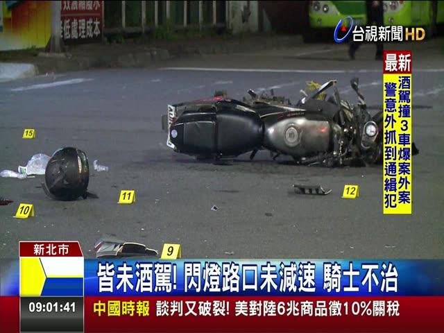 高速對撞垃圾車 騎士拋飛頭重創喪命 機車路口竄出 煞不住!垃圾車撞上奪命