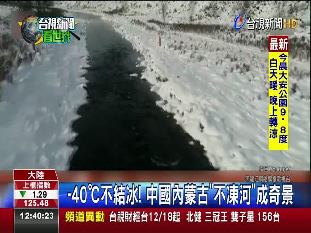 -40℃不結冰! 中國內蒙古不凍河成奇景
