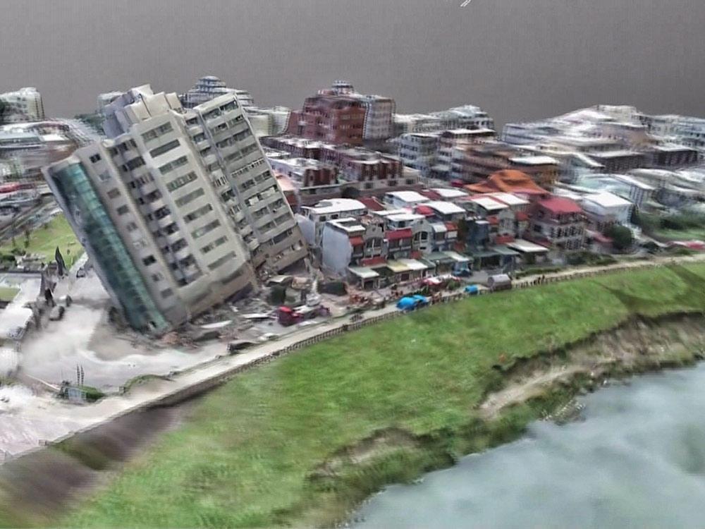 強震災區 米崙斷層上