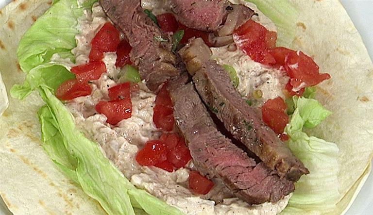 墨西哥牛肉沙拉餅
