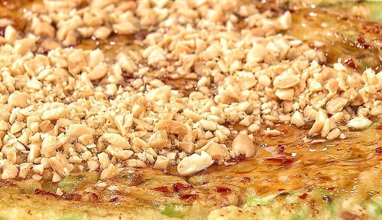 絲瓜花生煎餅