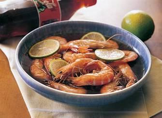 可樂滷活蝦