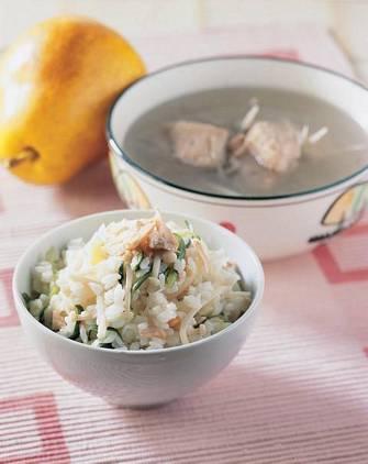秋鮭拌飯&牛蒡排骨湯