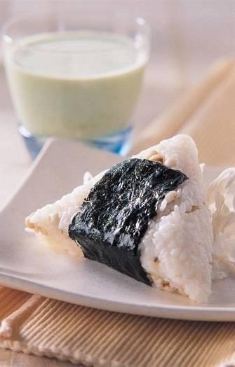 章魚燒飯糰&抹茶低脂奶