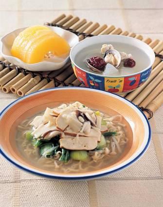 羅漢意麵&紅棗冬瓜蛤蜊湯