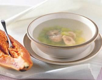 菜心蝦餃湯
