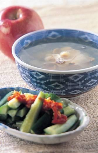 辣拌小黃瓜&百合蓮子湯
