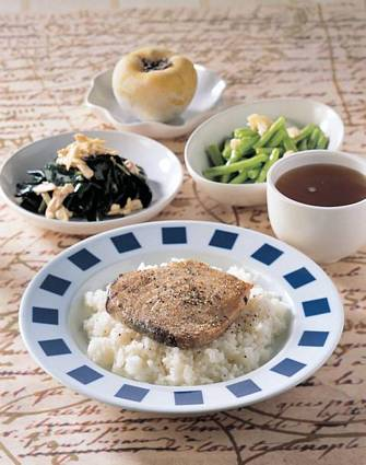 鹽烤旗魚飯&麻油川七雞絲