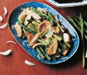 蘆筍百合炒肉片