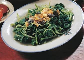 金銀蛋炒莧菜