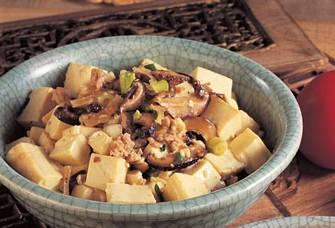 香菇肉茸滑豆腐