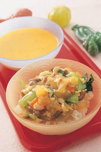 滑蛋牛肉燴飯&南瓜濃湯