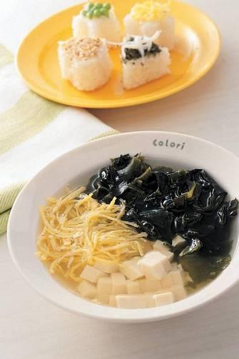 蛋絲帶芽豆腐湯