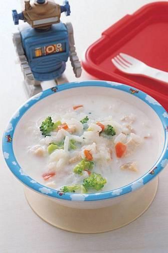 鮮奶雞肉粥