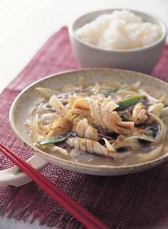 生炒魷魚羹
