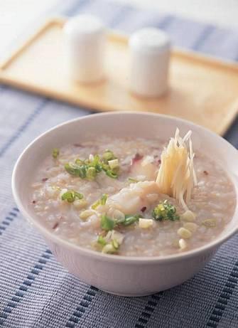 魚片糙米粥
