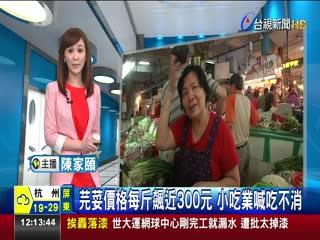 香菜價格每斤飆近300元小吃業喊吃不消
