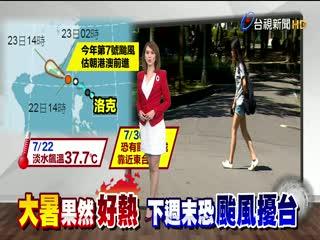 大暑超熱!淡水飆37.7度破今年當地紀錄