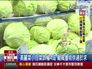 颱風沒來!三星蔥暴跌50元菜價大怒神