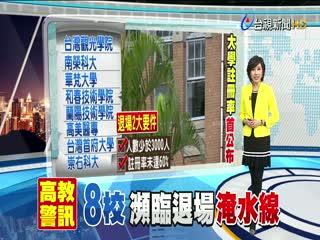 註冊率最低花蓮台灣觀光學院遭點名