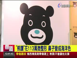熊讚花113萬微整形鼻子變成海洋色