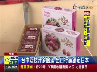 台中荔枝汁多飽滿出口行銷鎖定日本