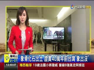 象骨化石出土證實40萬年前台灣象出沒