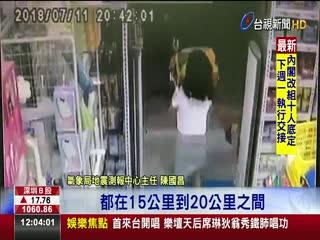台南地震氣象局:18年震源深度最淺一次