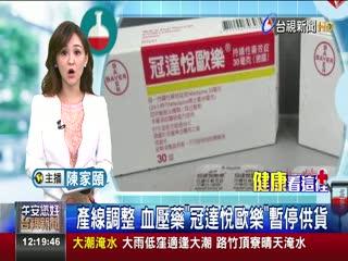 產線調整血壓藥冠達悅歐樂暫停供貨