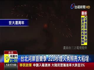 台北河岸音樂季320秒煙火秀照亮大稻埕