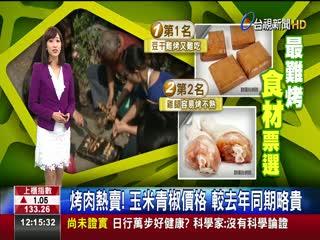 烤肉熱賣!玉米青椒價格較去年同期略貴