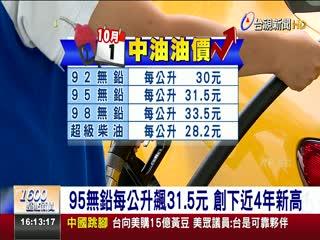 加油要快!汽柴油價格明起各調漲0.5元