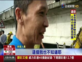 中山高257公里貨車墜大排兩人命危送醫