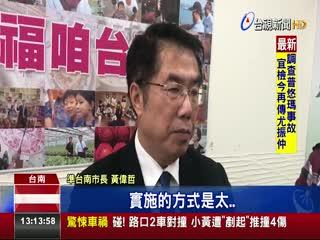 不隨前朝!黃偉哲:台南市房屋稅凍漲