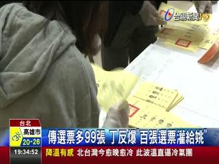 北市長選舉驗票結束丁守中提選舉無效