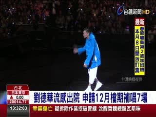 劉德華流感出院申請12月檔期補唱7場