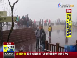 低溫凍不住追雪熱上百遊客蜂湧太平山
