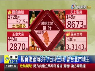 觀音佛祖擁3千7百坪土地登台北市地王