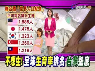 台灣生育率全球墊底國發會:資料不符