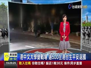 港中文大學變戰場 逾500在港台生平安返國
